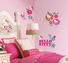 kids room captivating hello kitty bedroom decor with wall full image for captivating hello kitty bedroom decor with wall stickers feat comfortable pink and white