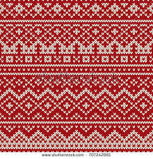 winter seamless knitting pattern stock vector