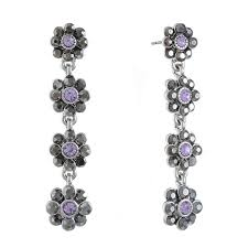 purple drop earrings monet jewelry purple drop earrings jcpenney