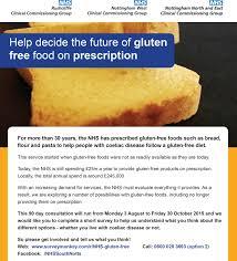 help decide the future of gluten free food on prescription