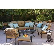 outdoor patio conversation sets 2 darlee elisabeth 8 piece cast aluminum patio conversation seating
