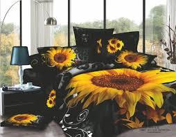 black leopard sunflowers queen size bedding sets flowers bedding sets