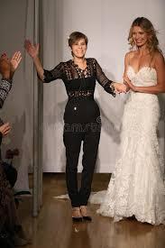 mori by madeline gardner designer madeline gardner and model walk at mori bridals fall