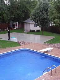 Basketball Backyard Half Basketball Court In Backyard Nfltou