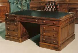 Modern Partners Desk 6 0 X 4 0 Partners Desk Leather Top Desks Locksley