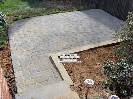Paver Patio Diy Paver And Brick Patios Rocha Construction Silver Md