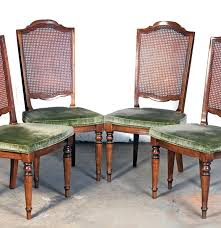 set of four ethan allen cane back dining chairs ebth