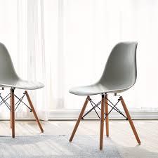 Esszimmerstuhl Kunststoff 4er Grau Stuhl Wohnzimmerstuhl Esszimmerstuhl Kunststoff Bürostuhl