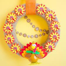 Thanksgiving Wreath Craft Thanksgiving Diy Peeinn Com