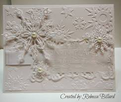 rebecca from the rock crafty corner white on white christmas card