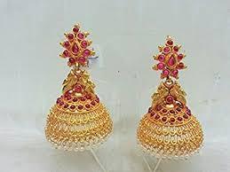 kempu earrings buy kempu temple traditional south indian jewellery big broad