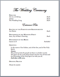 catholic wedding program spirals spatulas catholic wedding program