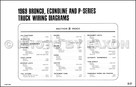 1969 ford bronco econoline and p series wiring diagrams