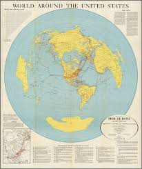 United Stated Map World Around The United States Map Of Proposed World Air Routes