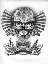 dia de los muertos skull with crown tattoo design tattoos book
