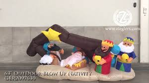 Outdoor Lit Nativity Scene by Outdoor Electric Blow Up Nativity Scene With Lights Youtube