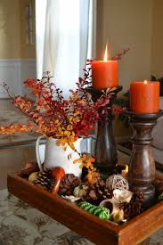 30 festive fall table decor ideas potpourri pinecone and trays