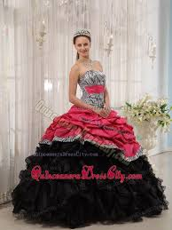 quincia era dresses ups ruffles zebra quinceanera gowns in black and 185 39
