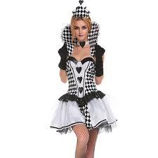 Queen Halloween Costumes Adults Chess Pattern Fancy Dress Black Swan Gothic Queen Halloween