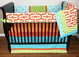 Orange Crib Bedding Turquoise And Orange Crib Bedding