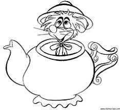 mad tea party alice wonderland disney coloring pages color