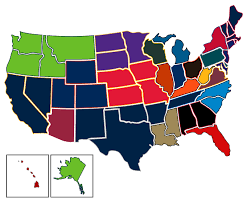 Nfl Usa Map by Most Popular Nfl Teams By Us State Vivid Seats