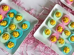 Easter Egg Hunt Party Decorations by Dyed Deviled Easter Eggs Recipe Hgtv