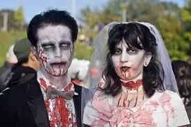 Zombie Bride Groom Halloween Costumes Frightful Halloween Costumes Couples