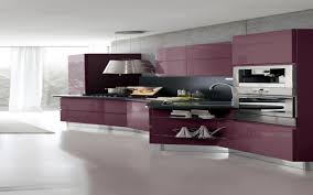 kitchen contemporary freestanding kitchen purple and white