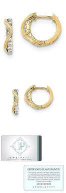 children s hoop earrings earrings 98476 14k yellow gold polished cz children s hinged hoop