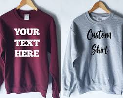 custom sweatshirt etsy