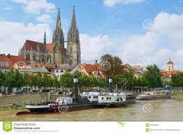 Regensburg Germany Map by View To Regensburg Cathedral And Historical Buildings With Danube