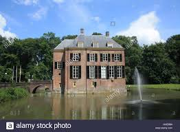 house building park holland castle manor moat water