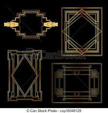 Art Deco Design Elements Clipart Vector Of Art Deco Vintage Frames And Design Elements
