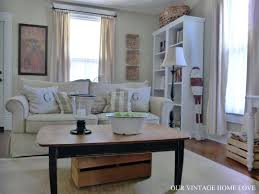 our vintage home love living room ideas and a desk