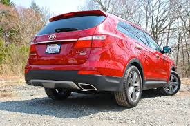2013 hyundai santa fe limited review 2013 hyundai santa fe limited rear 3 4 right low