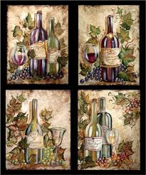 Grapes And Wine Home Decor Wine Bottle Grapes On Wine Bottles Tre Sorelle For Home
