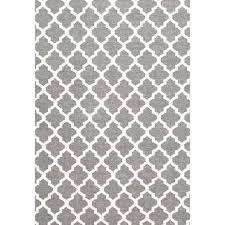 bergen grey trellis scandinavian wool flat weave floor rug