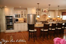 Kitchen Cabinet Dimension Traditionl Staggered Height Cabinets Brick Nj By Design Line Kitchens