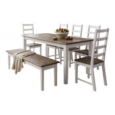 farmhouse table and chairs with bench canterbury dining table with 5 chairs and bench noa nani