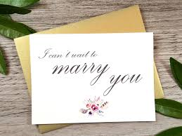 Wedding Day Cards From Groom To Bride I Can U0027t Wait To Marry You Card Wedding Day Card Bride