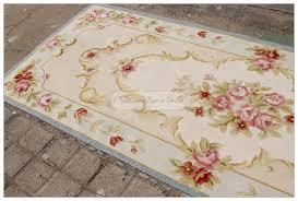 tappeto aubusson 3m runner aubusson rug shabby chic light blue ivory wool