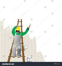 painting a wall man painting wall ladder stock vector 57678622 shutterstock