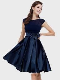 navy blue satin cocktail dress fashion dresses