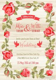 Invitation Card Download Red Rose Border Wedding Invitation Card Vector U2013 Over Millions