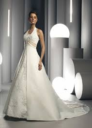 halter wedding dresses empire waist halter wedding dresses