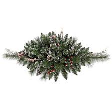 vickerman b106306 2 5 ft pvc swag frosted snow