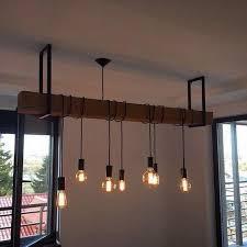 luminaires cuisines idée de suspension avec poutre et luminaires style industriel