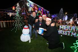 gogglebox stars turn on christmas lights at family home in nuthall