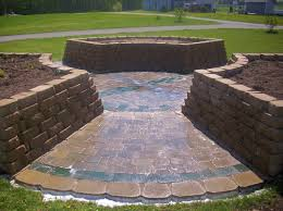 Retaining Wall Garden Bed by Landscape Design Guru How To Build A Retaining Wall In Michigan